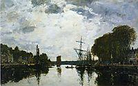 The Port of Landerneau - Finistere, 1871, boudin