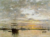 The Port of Le Havre at Sunset, 1882, boudin