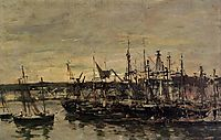 The port Portrieux, 1873, boudin