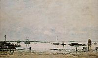 The port Portrieux at low tide, 1874, boudin