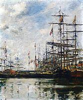 The Port, Ships at Dock, c.1888, boudin