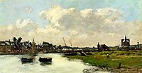 The Port of Trouville, 1875, boudin