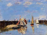 The Port of Trouville, 1886, boudin