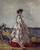 Princess Pauline Metternich on the Beach , c.1865, boudin
