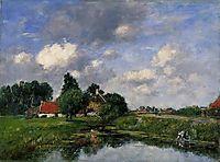 River near Dunkirk, 1889, boudin
