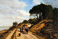 The Road from Trouville to Honfleur , c.1852, boudin