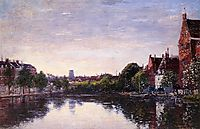 Rotterdam. A Corner of the Basin, 1877, boudin