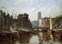 Rotterdam, Le Pont de Bourse, 1876, boudin