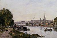 Rouen, View over the River Seine, 1895, boudin