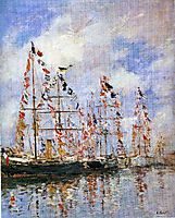 Sailing Ships at Deauville, 1896, boudin
