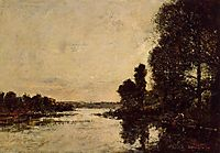 Saint-Valery-sur-Somme Moonrise over the Canal, c.1891, boudin