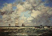 Seascape, Les Lamaneurs, 1884, boudin