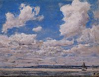 Seascape with Large Sky, 1860, boudin