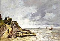 The Seine at Caudebec-en-Caux, 1889, boudin