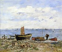 Shore at Sainte-Adresse, Low Tide, 1894, boudin