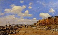 Shoreline with Rising Tide, October, 1893, boudin
