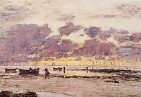 The Shores of Sainte Adresse at Twilight, 1890, boudin