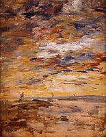 Sky at Sunset, c.1890, boudin