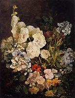 Spray of Flowers - Hollyhocks, 1858, boudin