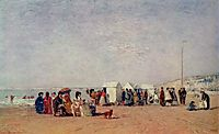 Strand in Trouville, 1868, boudin