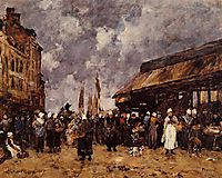 Trouville, the Fish Market, 1884, boudin