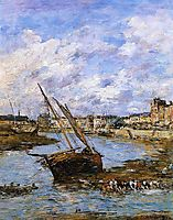 Trouville, the Inner Port, Low tide, 1881, boudin