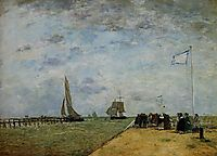 The Trouville Jetty, 1867, boudin