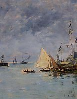 Trouville. The Jettys High Tide., 1897, boudin