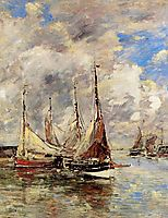 Trouville. The Jettys High Tide., c.1894, boudin