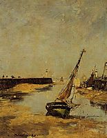 Trouville, the Jettys, Low Tide, 1883, boudin