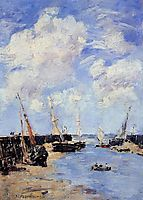 Trouville, the Jettys, Low Tide, 1894, boudin