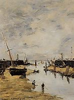 Trouville. The Jettys Low Tide., 1894, boudin