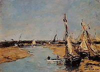Trouville, the Jettys at Low Tide, c.1884, boudin