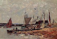 Trouville, the Port, c.1885, boudin