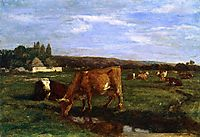 The Valley of the Touques, c.1860, boudin