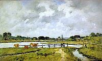 The Valley of the Touques. Cows in the Meadow., 1892, boudin