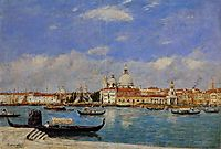 Venice, The Salute and the Douane, the Guidecca from the Rear, View from the Grand Canal, 1895, boudin