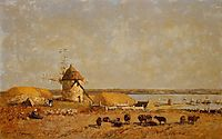 View from the Camaret Heights, 1873, boudin