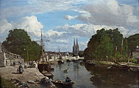 View of the port of Quimper, 1857, boudin