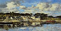 The Village and the Port on the River, c.1873, boudin