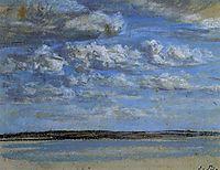 White Clouds, Blue Sky, c.1859, boudin