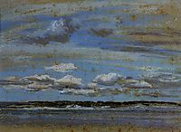 White Clouds over the Estuary, c.1855, boudin