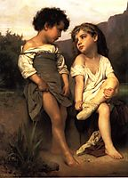 At the Edge of the Brook, 1879, bouguereau