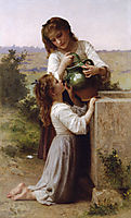 At the Fountain, 1897, bouguereau