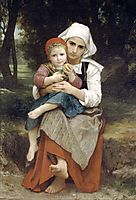 Breton Brother and Sister, 1871, bouguereau