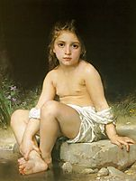 Child at Bath, c.1886, bouguereau