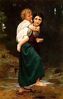 The Crossing of the Ford, 1869, bouguereau