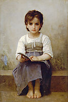 The difficult lesson, 1884, bouguereau