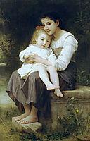 The Elder Sister, 1886, bouguereau