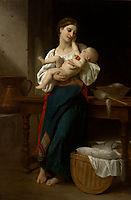 First Caress, 1866, bouguereau